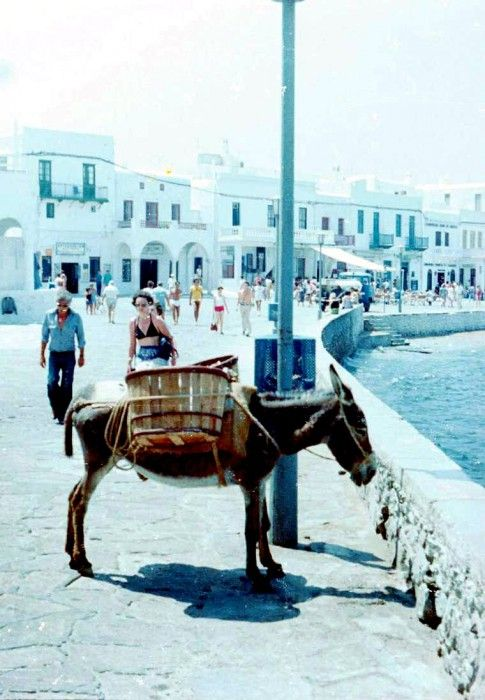 Mykonos port 1980