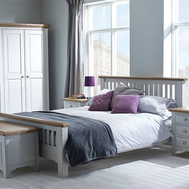 Brighten Up Your Bedroom With Our Georgia Grey Painted Oak Collection Small Chances Can Make A Huge Dif Oak Bedroom Furniture Grey Bedroom Furniture Furniture