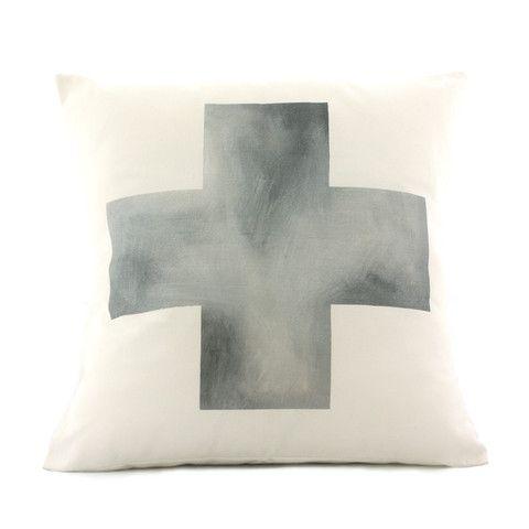 Silver Cross Cushion  www.cloudninecreative.co.nz