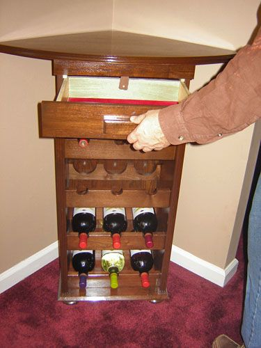 17 best ideas about Corner Wine Rack on Pinterest | Corner bar, Wine table  and Wine hutch