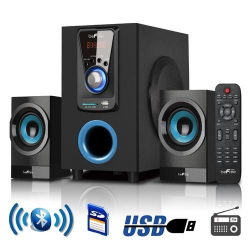 beFree Sound 2.1 Channel Surround Sound Bluetooth Speaker System