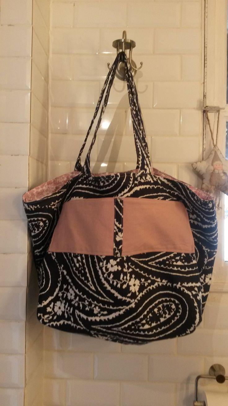sac de plage en tissu anglais, grande contenance : Sacs bandoulière par a-fleur-2-pots