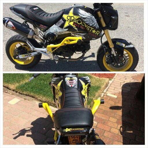 ZeusArmor Crash Cage for Honda Grom/MSX 125 in super clean gloss yellow available at http://zeus-armor.com/store