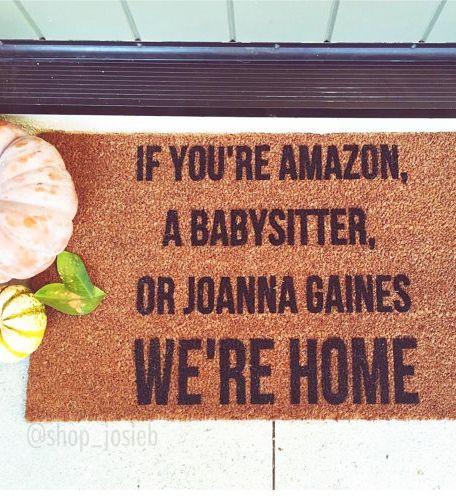 Haha! Cute doormat! Christmas gift idea!