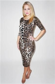 43 best images about Leopard Print Midi Dress on Pinterest | Dress ...