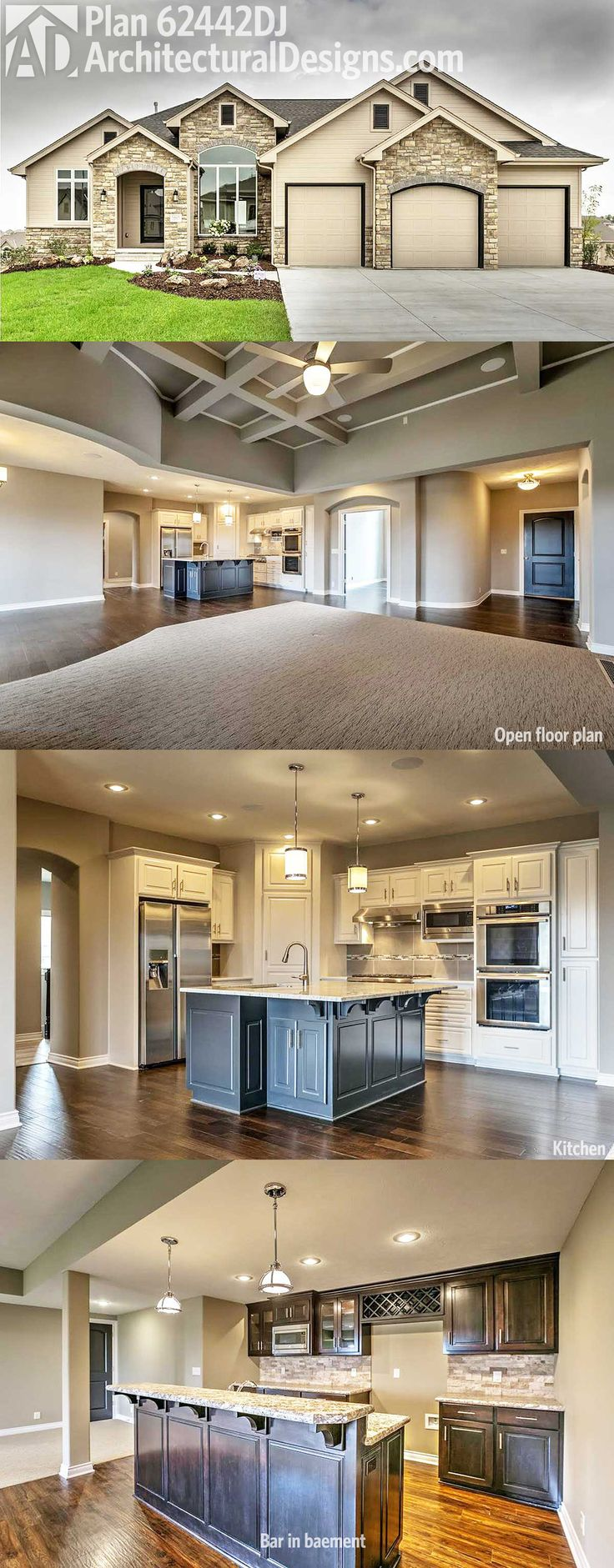 Architectural Designs House Plan 62442dj Comes To Life This Design Gives You An Open Floor
