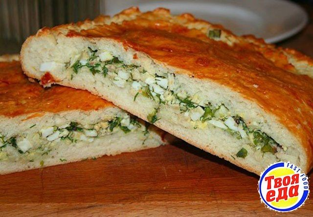 Пирог с яйцом и зеленым луком - Кулинарные рецепты