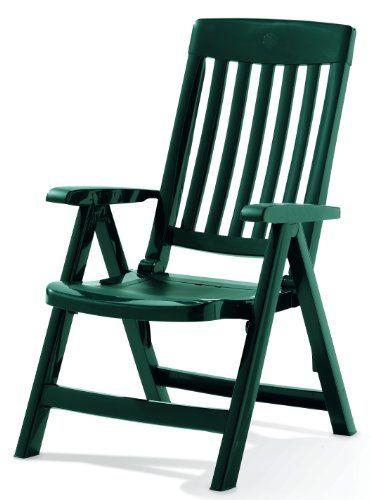 Cool SIEGER Klappsessel Palma Vollkunststoffgestell smaragdgr n SIEGER Gartenm bel KunststoffHocker