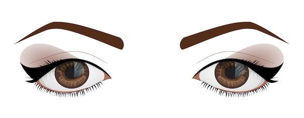 Make-up for downturned eyes