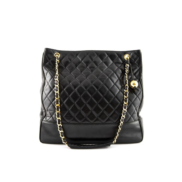Chanel Black Quilted Lambskin Large Tote Bag