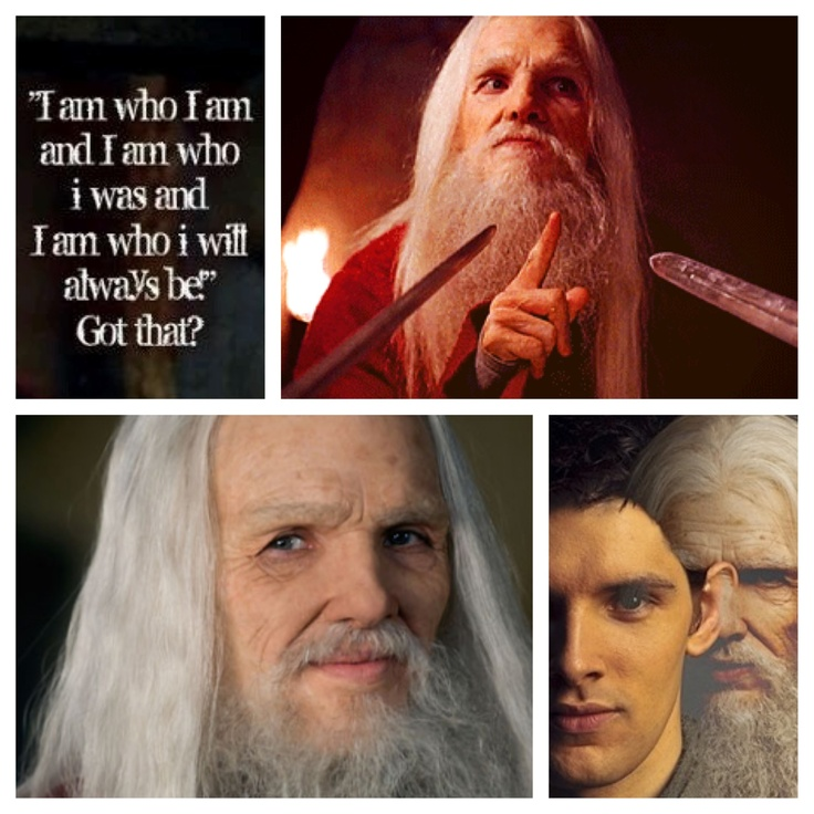 """Emrys/ Merlin """"I am who I am and I am who I was  and I am who I will always be Got that?"""""""