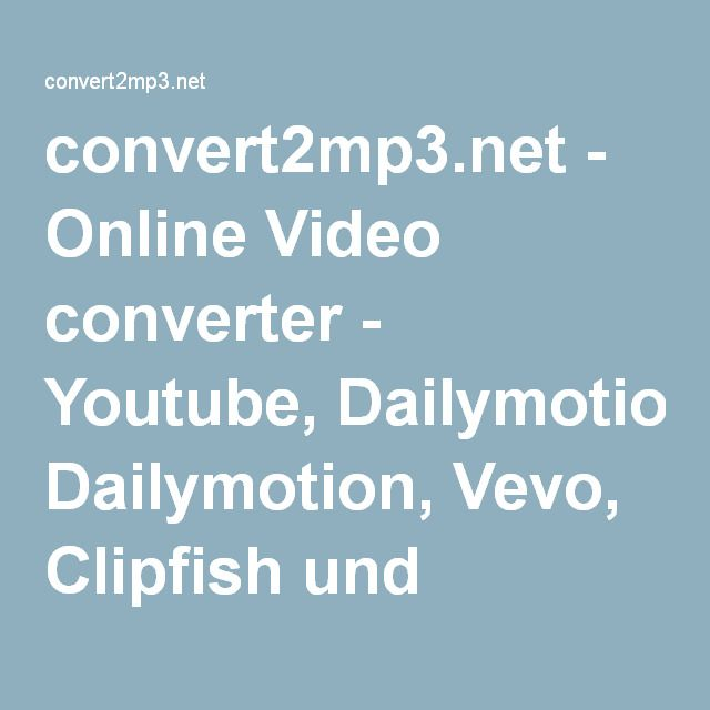 convert2mp3.net - Online Video converter - Youtube, Dailymotion, Vevo, Clipfish und MyVideo Videos in MP3, MP4 und weitere Formate umwandeln - Kostenlos und legal Musik downloaden