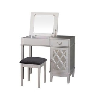 Shop for Linon Louvre Vanity Wood Table, Stool and 18 x 36-inch Mirror. Get free delivery at Overstock.com - Your Online Furniture Store! Get 5% in rewards with Club O! - 16595510
