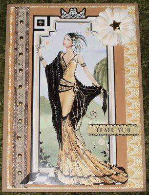 Kym's Crafty Cards: Thank You Art Deco Card
