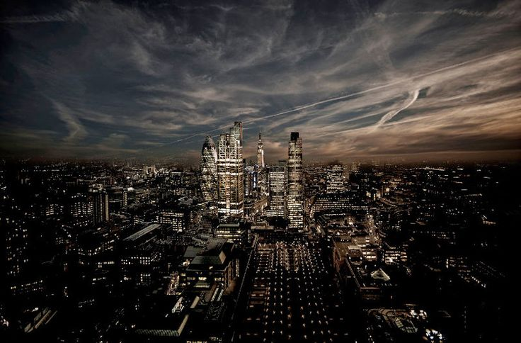 The Dark Square Mile, London, England by Howard Kingsnorth