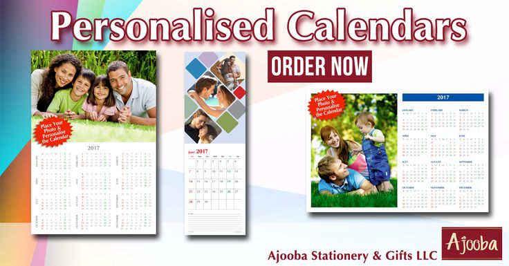 Look forward to each month with a personalised calendar filled with your favorite memories.    Order Now from Ajooba  #Ajooba #Stationery #PersonalisedCalendar #PersonalisedGifts #PerfectGift #Calendar #Organiser #Gifts #WallCalendar #DeskCalendar #Creative #MyDubai #DubaiGifts #Dubai #DXB