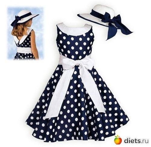 Где купить платье в горошек для девочек