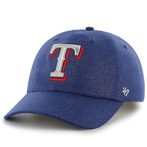 Texas Rangers Women's Luster Clean Up Adjustable Cap by '47 Brand - MLB.com Shop