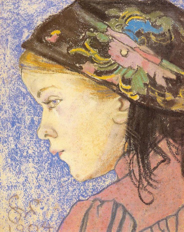 Stanisław Wyspiański, Portrait of a Girl, 1904