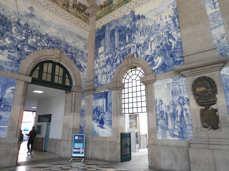 São Bento Train Station: Discover murals of the history of Portugal created in more than 20,000 magnificent tile (azulejo) panels.