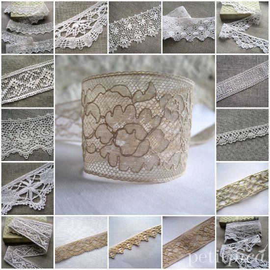 collection of lace available at Petit Pica...