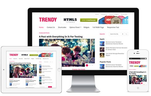 Trendy A Multi Column Responsive Lifestyle Magazine WordPress Theme