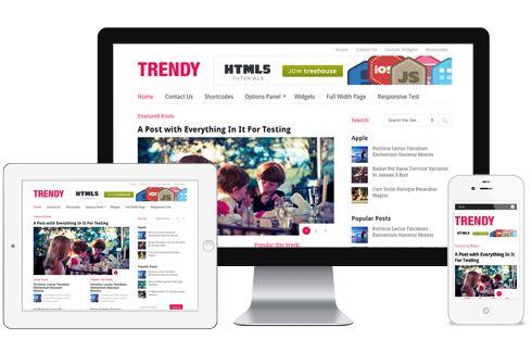 Trendy A Multi Column Responsive Lifestyle Magazine WordPress Theme