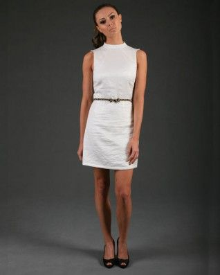 The Gorjess Closet Shine Into The Metallic Dress in Cream - Clothing - Birdmotel Online Store