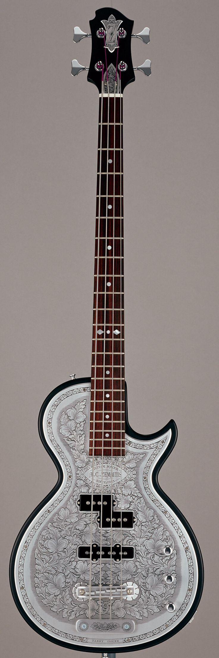 Weird Bass Guitars   ZEMAITIS BMF-MCPJ-MBK Metal Front™ Bass