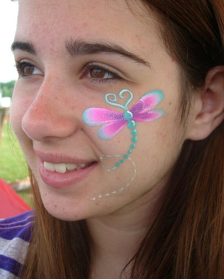 Dragonfly Face Painting Ideas Dragonfly face paint design. via ...