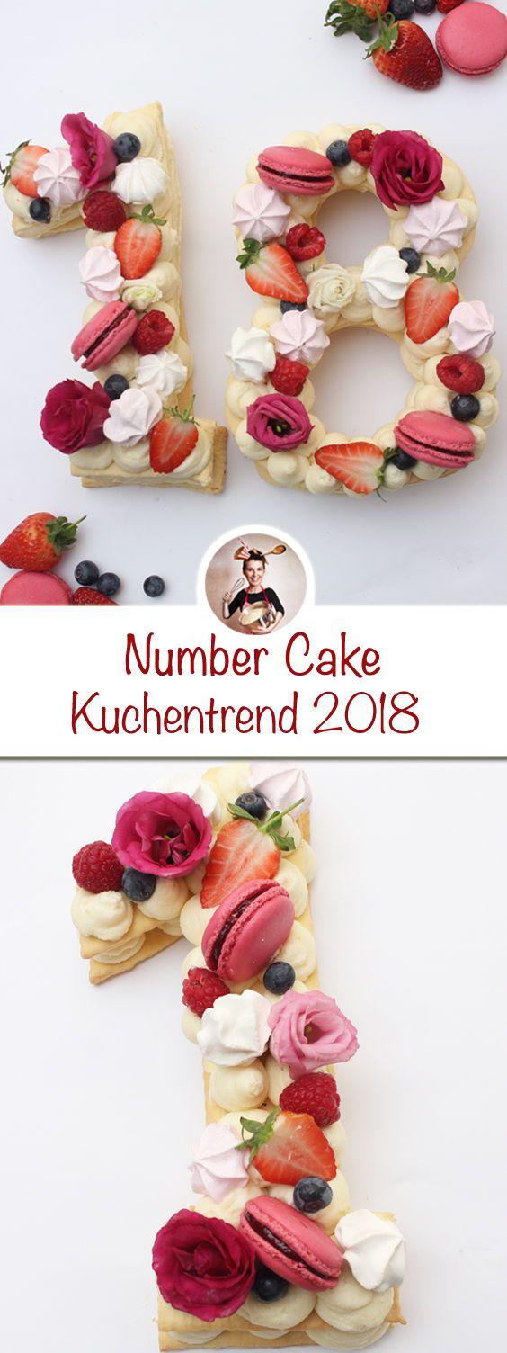 Kennt ihr schon den Kuchentrend 2018. Es ist der Number Cake. Wie einfach er zu … – Frühlingshafte Rezepte