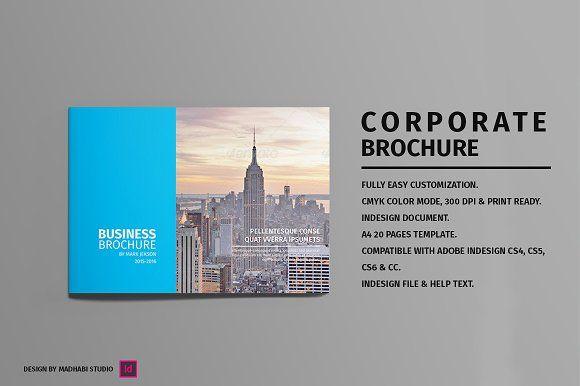 Landscape Corporate Brochure by Madhabi Studio on @creativemarket
