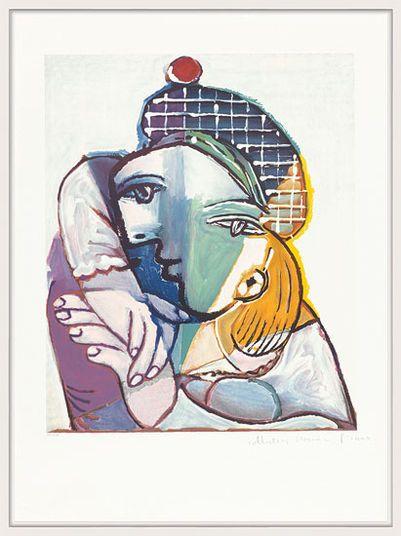 Pablo Picasso http://www.kunsthaus-artes.de/de/790462.R1/Bild-Portrait-de-femme-au-beret-ecossais/790462.R1.html#q=Picasso&start=4