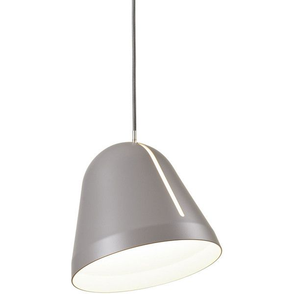 nyta large tilt pendant grey found on polyvore featuring polyvore home lighting - Metal Lamp Shades