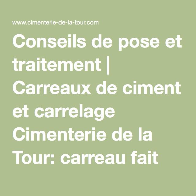 14 best images about carreaux ciment on pinterest for Traitement carreaux de ciment