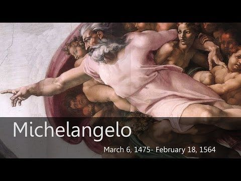Michelangelo Homeschool Art Project - http://www.tableof4please.com - YouTube