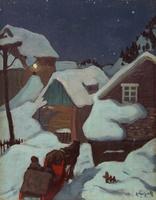Evening, Baie-Saint-Paul, Quebec  Edwin Holgate  oil (13x10 in) circa 1922
