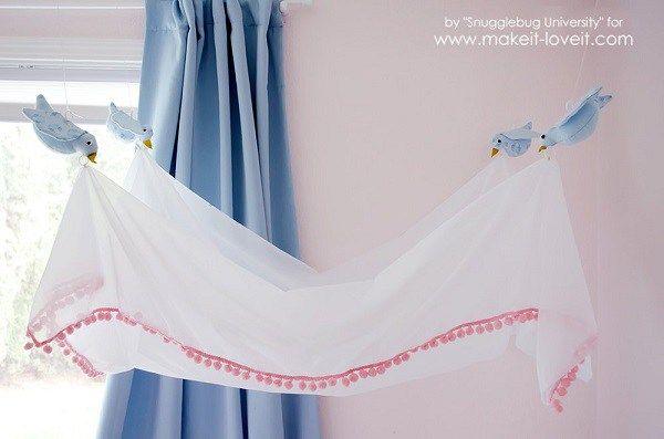 Tutorial: Cinderella-inspired bird bed canopy