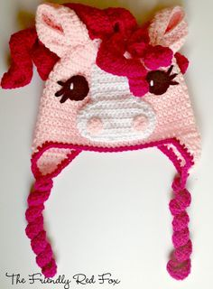 The Friendly Red Fox: Free Crochet Little Pony Hat Pattern in Four Different Sizes! (9-12 months, Toddler, Child and Teen/Adult)