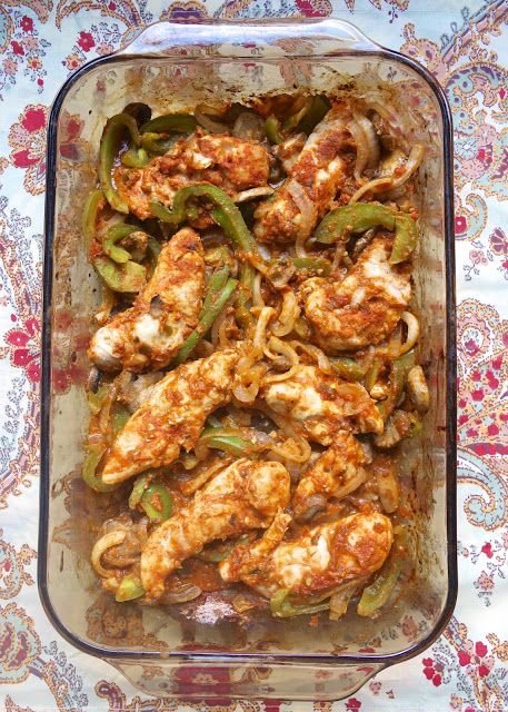 Oven Baked Chicken Fajitas w/Homemade Fajita Seasoning| Plain Chicken Great concept! I would modify the ingredients a bit. ;)