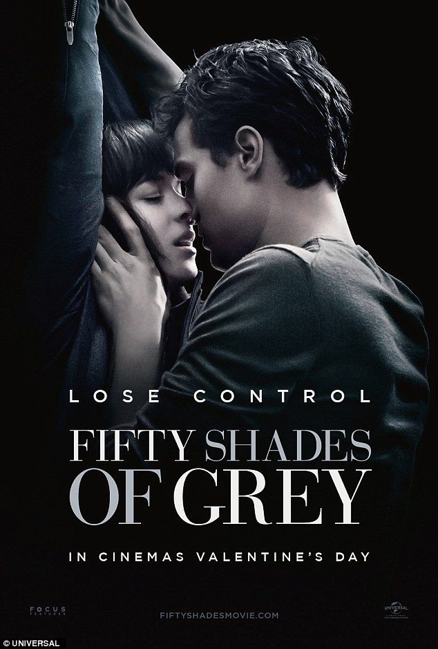 New poster: Jamie Dornan and Dakota Johnson romantic up against a wall in the latest poster for Fifty Shades Of Grey