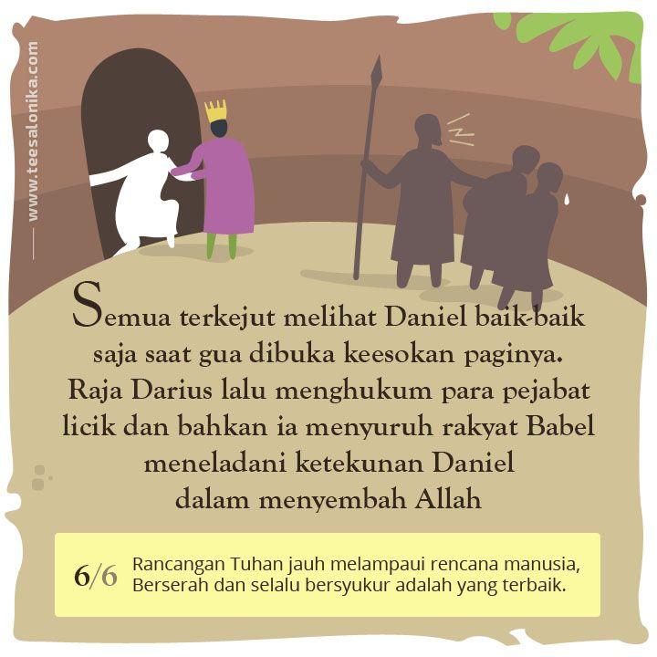 Kisah Daniel — Gambar VI dari 6. #CeritaAlkitab #KisahNabi #PerjanjianLama
