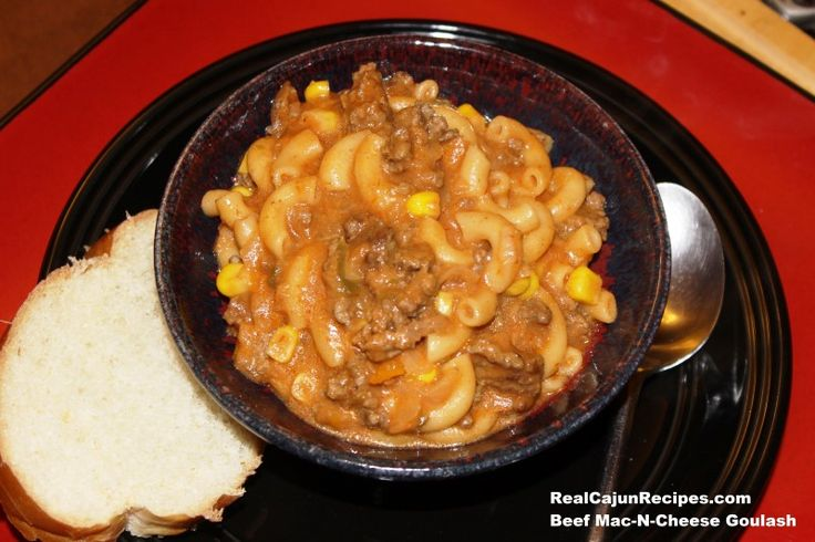 Beef Mac-n-Cheese Goulash -- This dish is easy, inexpensive and yummy comfort food being mixed into one pot!  My kids always called this dish Goulash but not sure why...