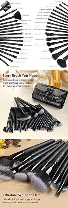 32 Makeup Brush Set. Makeup Brush Set, USpicy 32 Pieces Professional Makeup Brushes Essential Cosmetics With Case, Face Eye Shadow Eyeliner Foundation Blush Lip Powder Liquid Cream Blending Brush.  #32 #makeup #brush #set #32makeup #makeupbrush #brushset