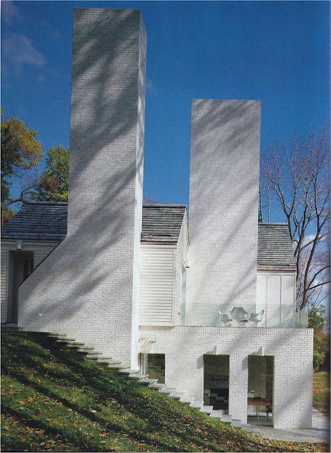 Modern white Jacobsen designed house