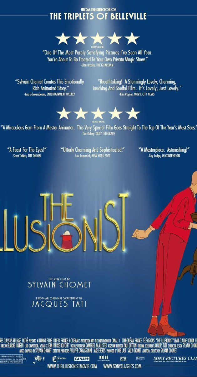 The Illusionist (2010) - A French illusionist finds himself out of work and travels to Scotland, where he meets a young woman. Their ensuing adventure changes both their lives forever.