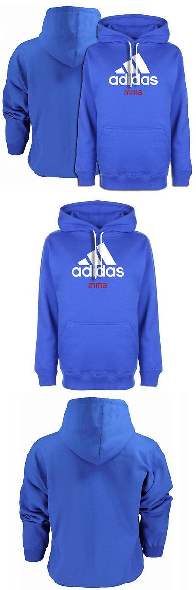 Hoodies and Sweatshirts 179770: Adidas Community Line Mma Pullover Hoodie - Vibrant Blue/White BUY IT NOW ONLY: $59.95