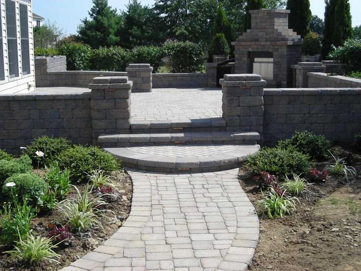 patio ideas: a collection of outdoors ideas to try   stone patios ... - Raised Patio Ideas
