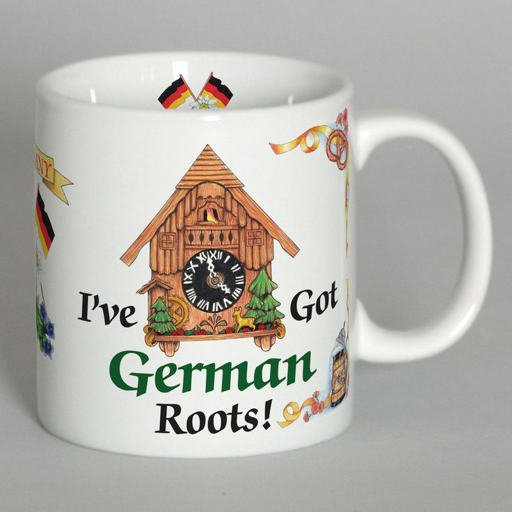 "German Gift Coffee Cup: ""I've Got German Roots"""