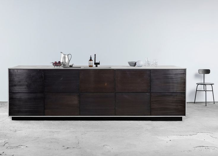 Ikea kitchens hacked _ The countertop material – available in fibre-reinforced concrete, bronzed tombac metal, oak-sawn veneer and smoked oak